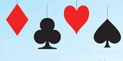 Kaartspel casino speelkaarten decoratie hangers